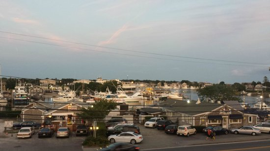 Hyannis Holiday Motel: View of Harbor from room balcony.
