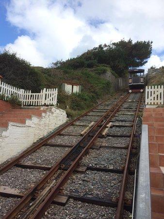 Aberystwyth Cliff Railway: Going up