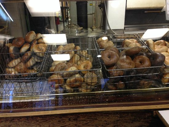 Ess-a-Bagel: Wide variety of bagels. Ask for a warm one!