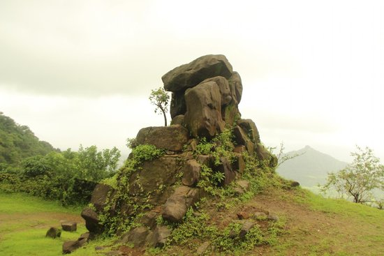 Palghar, India: Stone on plateau