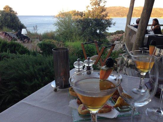 Hotel U Capu Biancu: cocktails du soir....pas terribles
