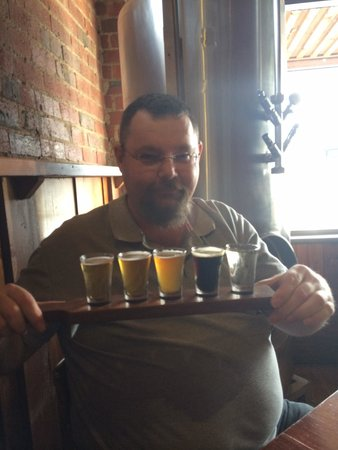 Coldstream Brewery: Beer tasting paddle