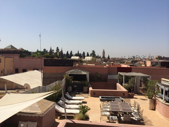 Riad Vendome & Spa Marrakech : Vue de la terrasse