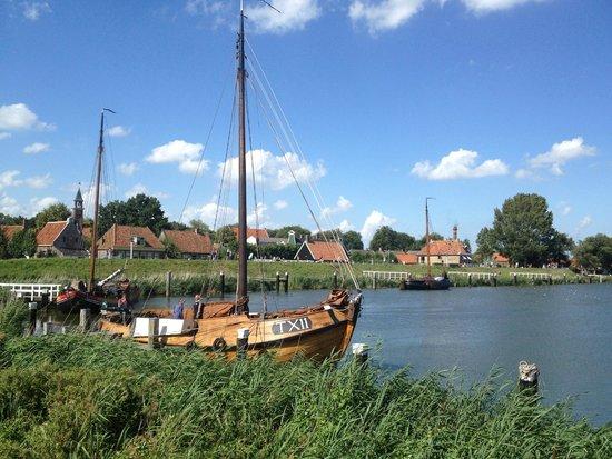 Zuiderzee Museum (Zuiderzeemuseum): View from the museum's harbour
