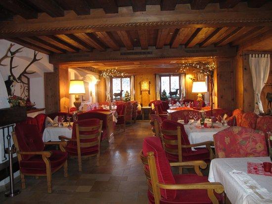 Alpenresort Schwarz : une des salles à mange'r