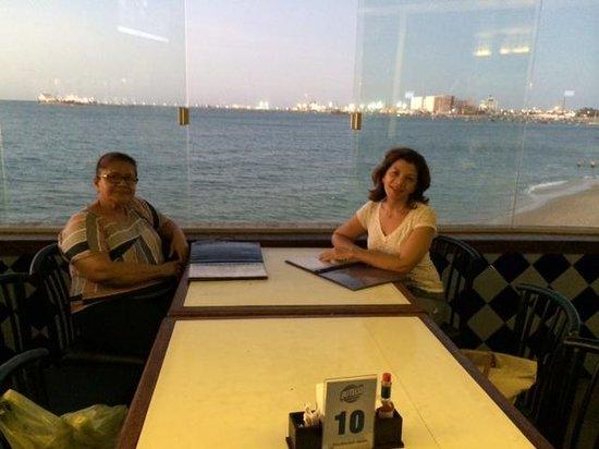 Boteco Praia : Curtindo uma bela vista com minha mae