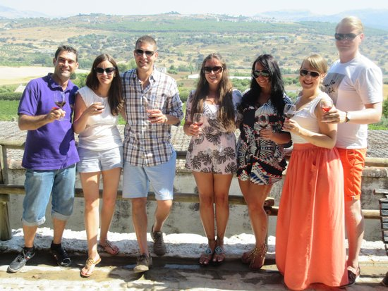 Tannin Trail: The group with Jose