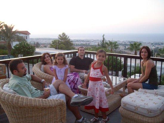 Onar Holiday Village : balcony overlooking north cyprus shore