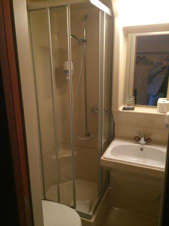 feRUS Hotel: Kleine Dusche/WC aber alles drin...