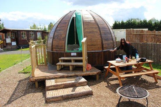 Dorset Country Holidays Glamping: galaxy stargazer pod