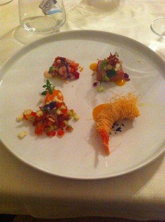Osteria Bastia 9: assaggio di crudi di pesce