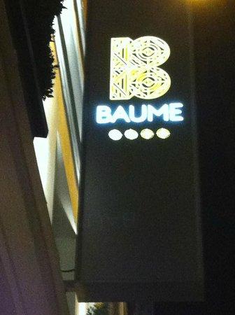 Hotel Baume: enseigne