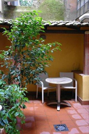 Hotel Trevi : small patio with water from  all air-conditioning of the building