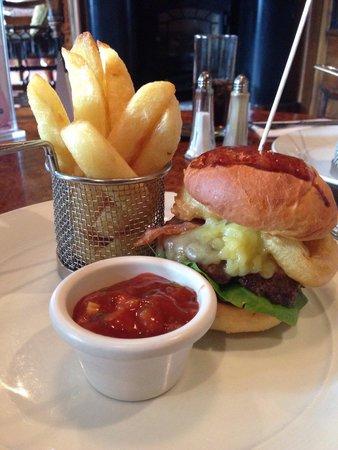 The Old Inn Crawfordsburn: My burger! Small but massive!!