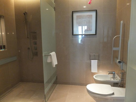 The Ritz-Carlton, Dubai: Club room shower/toilet