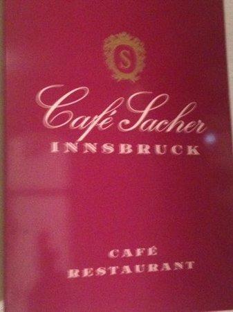 Café Sacher Innsbruck: menu