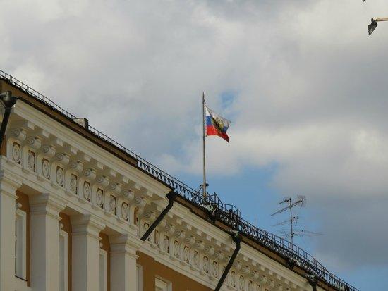 Moskauer Kreml: 国旗が揚がっている時は、大統領がいる時だとか。