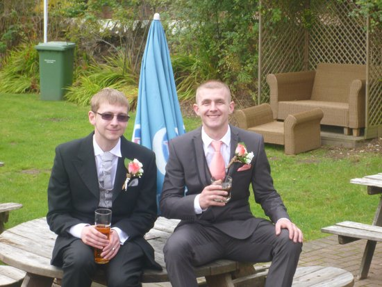 The Farmers Arms: My 2 sons the groom and best man