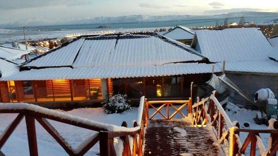 La Cantera Boutique Hotel: vista desde la terraza con nieve