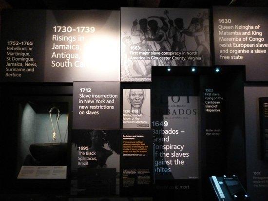 International Slavery Museum: Références aux mouvements de révolte des esclaves