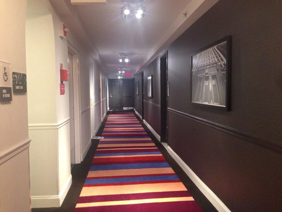 The Warwick Hotel Rittenhouse Square: Loved the hallway decor