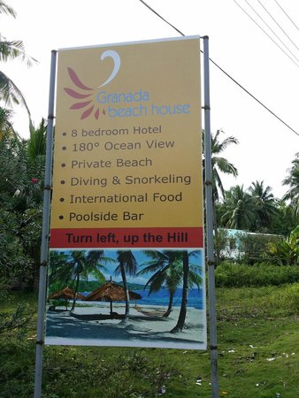 Granada Beach Resort: the sign outside