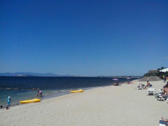 Capitana, Italie : La plage de l'hôtel
