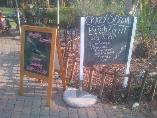 Walter Sisulu National Botanical Gardens Restaurant Signage