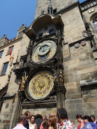Old Town Hall and Astronomical Clock : Clock facade