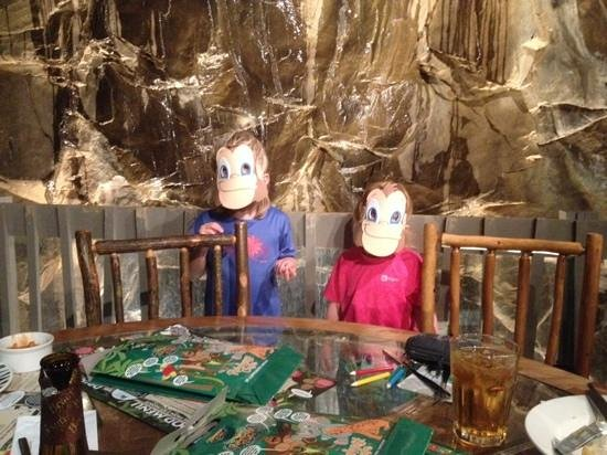 Rainforest Cafe: cheeky monkeys.