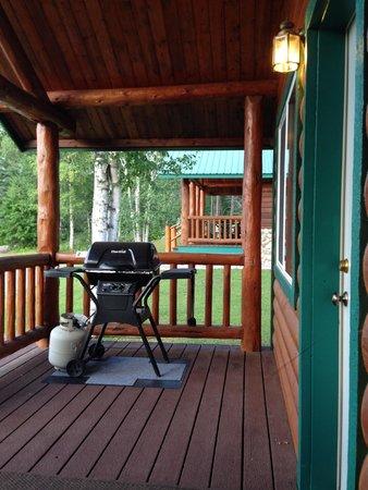 Glacier Outdoor Center: porch with grill