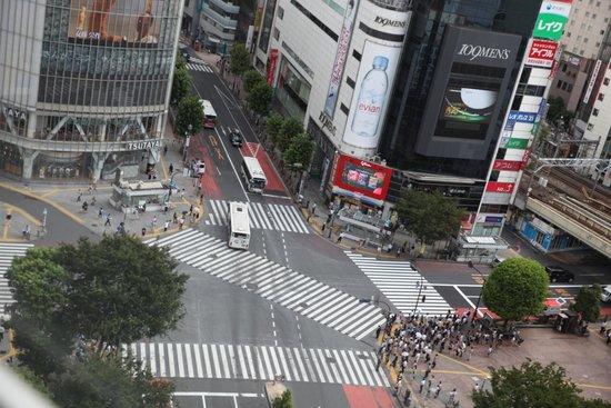 Shibuya Excel Hotel Tokyu: the crossing
