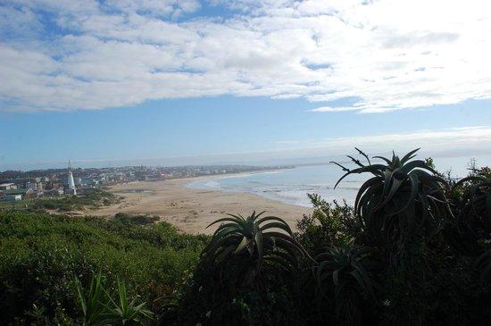 Island Vibe Jeffrey's Bay: Uitzicht van op het terras