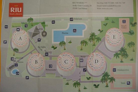 Hotel Servatur Waikiki: Plan clubhotel Riu Waikiki Grand canaria