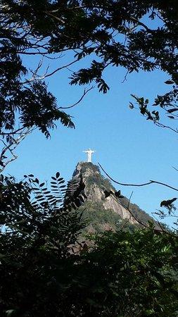 Estatua de Cristo el Redentor: Cristo visto do mirante Dona Marta