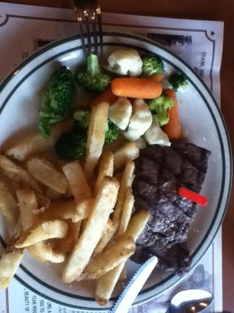 Ruby's Inn Cowboy's Buffet and Steak Room : Flat iron steak. Delicious.