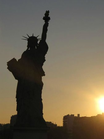 Statue de la Liberté  : Couché de soleil