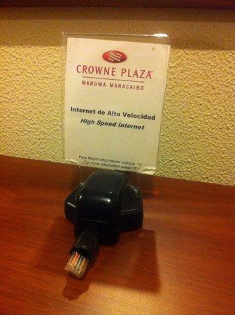 Crowne Plaza Maruma Hotel & Casino : Internet de alta velocidad por cable y wi fi