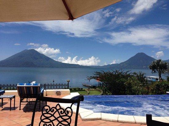 Hotel Atitlan: Vista desde mi habitación!