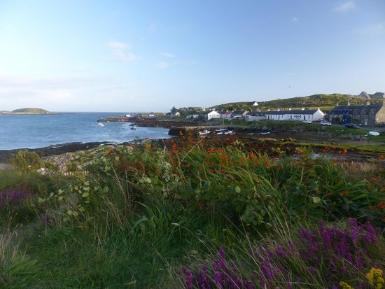 Isle of Coll Hotel: View to Arinagour
