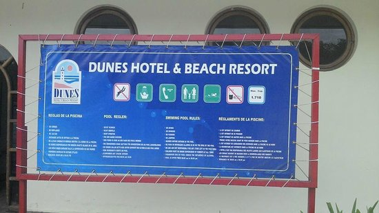 Dunes Hotel & Beach Resort: Pool guidelines
