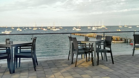 Miramar La Ribera: View of the sea , best place to have a coffee or a meal