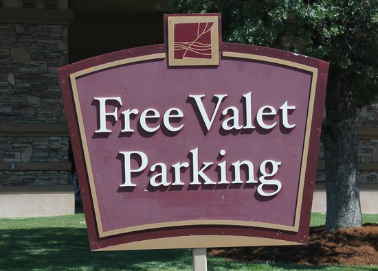 Brooks, CA: Always free valet parking!