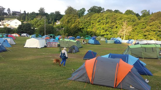Hidden Valley Holiday Park: Camp site at 7am after another sleepless night.