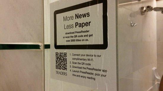 Hotel Jen Penang: Less paper