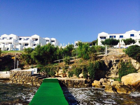 SENTIDO Louis Plagos Beach : Вид на отель с понтона (вход в море)