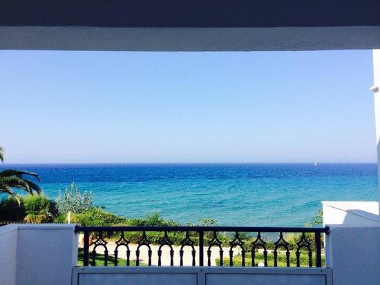 SENTIDO Louis Plagos Beach: Вид с балкона номера (Front Sea View)