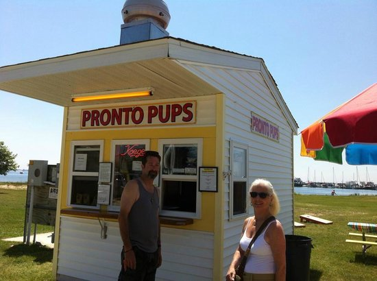 Tawas Bay Pronto Pup: My friends Mel & Rose on our Summer vacation June 2014