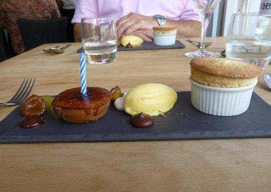 Menu Gordon Jones: My birthday desert
