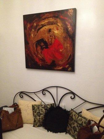 Hotel Palacio Blanco: Kunst aan de muur